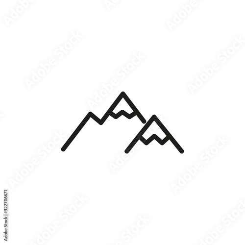 Simple mountain line icon. Wall mural