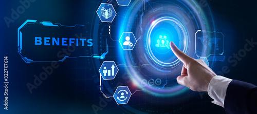 Fototapeta сотрудникам Employee benefits help to get the best human resources. Business concept. obraz