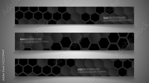 Fototapety, obrazy: Modern vector design banner background. Abstract hexagon creative concept graphic layout template.