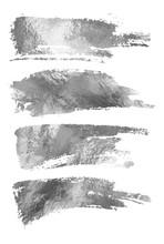 Vector Silver Paint Smear Stro...