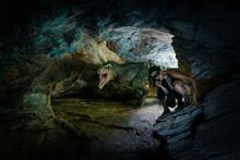 T-Rex Besucht Steinzeitfrau In...