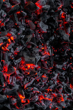Smouldering Embers On A Surface