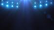 Bright lighting with spotlights on stage. Presentation
