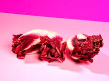 Fresh Radicchio On Pink Background