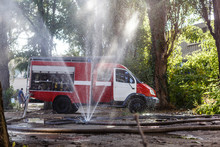 Red Municipal Fire Engine, Fir...