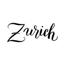 Zurich Calligraphy Text Icon. ...