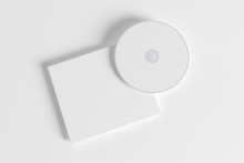 Blank Compact Disk And Plastic Cover Isolated On White