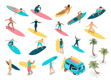 Surfing Isometric Set