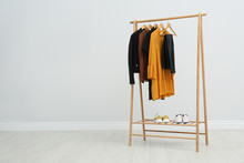 Wooden Rack With Stylish Cloth...