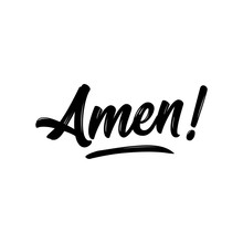 Amen - Hand Written Vector Cal...