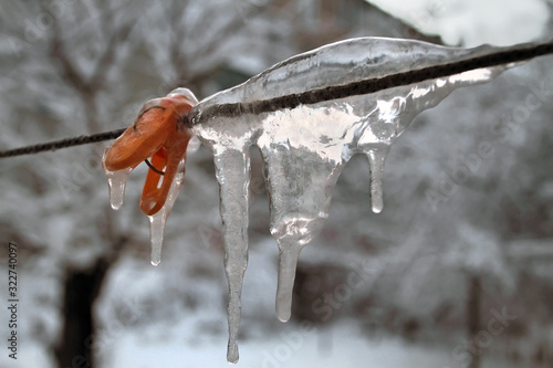 pin on a rope in ice Canvas Print