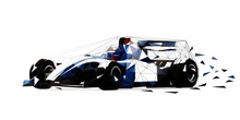 Formula Racing Car, Low Polygo...