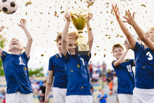 Champion Youth Soccer Team Wit...