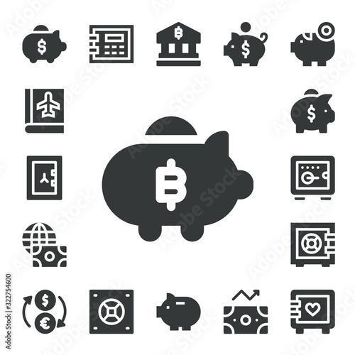 Fototapeta Modern Simple Set of deposit Vector filled Icons obraz