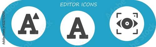 Obraz editor icon set - fototapety do salonu