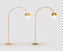 Street Lights. Set Golden Lant...