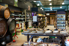 Alimentary Products In Eco Grocery Of Barcelona