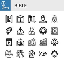 Bible Icon Set