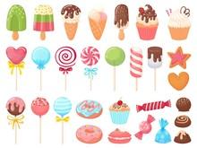 Cartoon Sweets. Sweet Ice Crea...