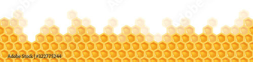 seamless honey comb background Canvas Print