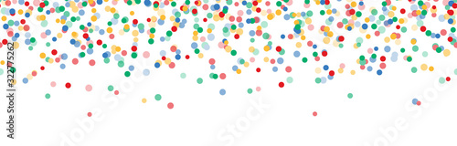 Obraz seamless colored confetti on upper border with free space for text - fototapety do salonu