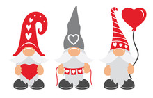 Valentines Day Gnomes With Hat...