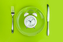 Alarm Clock With Fork And Knif...