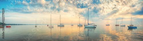 Obraz Morning sea - panoramic view - fototapety do salonu