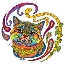 Colorful Ornamental Cat 7