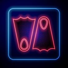 Glowing Neon Rubber Flippers F...