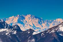 Monte Rosa On The Italian Alps