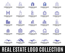 Set Of Best Real Estate Logo C...
