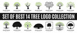 set of best tree logo collections, perfect for company logo or branding.