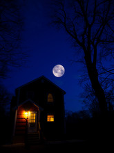 Composite : Moon Hovering Over...