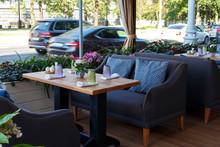 Empty Veranda Summer Cafe In T...