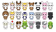 Collection Character Animals C...