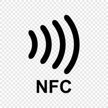 Near Field Communication NFC Icon. NFC Logo. Vector Icon