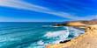 Fuerteventura Bucht mit türkisfarbenem Meerblick als Panorama