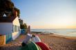 Leinwandbild Motiv Noirmoutier, plage, paysage, océan, mer, sable, maison, location, vent