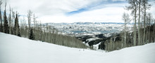Wasatch Mountains At Winter. T...