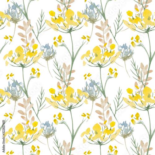 Tapety Retro  wzor-zolte-kwiaty-baner-w-tle