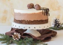 """Whole Mousse Cake """"three Choco..."""