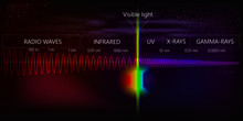 The Light Spectrum Of Waves Includes Infrared Rays, Visible Light, Gamma Rays, Ultraviolet Rays And X-rays