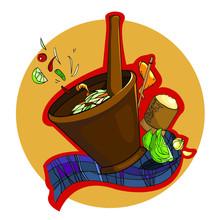 Somtum Thai Food Vector.  Thai Food Vector.