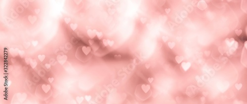 Fototapeta Abstract pastel background with hearts - concept Mother's Day, Valentine's Day, Birthday - spring colors obraz na płótnie