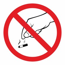 Not Allowed Throwing Cigarettes To The Floor Sign