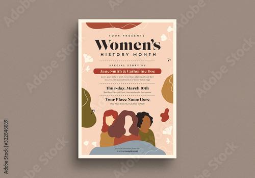 Fototapeta Women's History Month Flyer Layout obraz