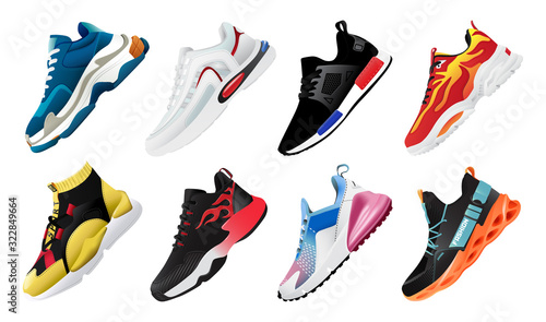 Fotografia New Fitness sneakers set, fashion shoes for training running shoe