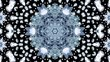 kaleidoscope of abstract video clips, and flickering movements, with glowing flowers that spin smoothly