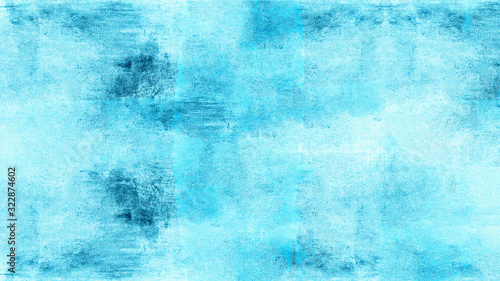 Abstract aquamarine turquoise watercolor painted paper texture background